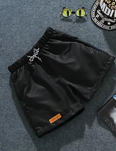 お買い得  メンズパンツ&ショーツ-男性用 カジュアル ミッドライズ 伸縮性なし ルーズ ショーツ パンツ ソリッド 夏