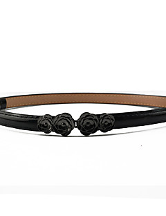billige Trendy belter-Dame Dress Belt Spenne - Blomster, Ensfarget Harpiks