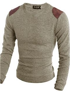 tanie Męskie swetry i swetry rozpinane-Męskie Wełna Weekend Okrągły dekolt Szczupła Długi Pulower Zwierzę Długi rękaw