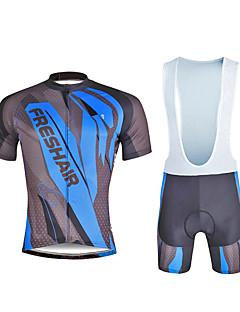 billige Sett med sykkeltrøyer og shorts/bukser-ILPALADINO Herre Kortermet Sykkeljersey med bib-shorts - Svart Sykkel Klessett, 3D Pute, Fort Tørring, Ultraviolet Motstandsdyktig,