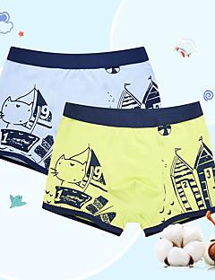 billige Undertøj og sokker til drenge-Drenge Undertøj Stribet Alle årstider Stribet Mikroelastisk Grøn Grå