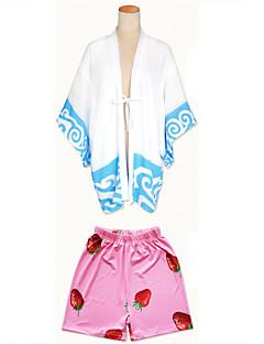 Cosplay Klær Cosplay Topper / Underdele Japansk Kimono Inspirert av Gintama Gintoki Sakata Anime Cosplay-tilbehør Topp Bukser SjalAndre
