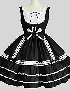 billiga Lolitamode-Prinsessa Gotisk Lolita Dam Flickor jsk / Jumper Kjol Cosplay Svart Ärmlös Knälång Kostymer