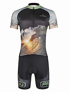 billige Sett med sykkeltrøyer og shorts/bukser-ILPALADINO Herre Kortermet Sykkeljersey med shorts - Svart Hodeskaller Sykkel Klessett, 3D Pute, Fort Tørring, Ultraviolet