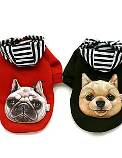 abordables -Chien Manteaux Pulls à capuche Vêtements pour Chien Vacances Décontracté / Quotidien Sportif Mode Animal Noir Rouge Costume Pour les
