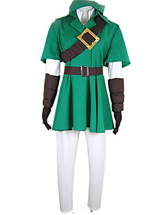 "billige Anime cosplay-Inspirert av The Legend of Zelda Link Deluxe video Spill  ""Cosplay-kostymer"" Cosplay Klær Lapper Halvlange ermer Frakk Trøye Bukser"