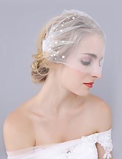 billiga Brudslöjor-Ett lager Skuren kant Bröllop Brudslöjor Brudslöjor Med Spets Prinsess