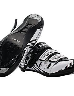 billiga Cykling-BOODUN® Skor för vägcykel Nylon, Glasfiber, Luftflöde Ventiler, Halkfri Tramp Utomhus Cykelsport Svart / Röd / Mörkgrön Herr
