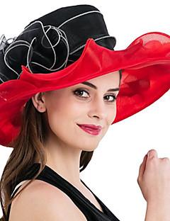 Femme Chapeau Fleur Filet de tulle Bob Capeline Chapeau de soleil,Mosaïque Printemps/Automne Eté Fleur