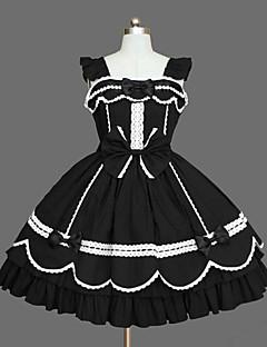 Gothic Lolita Prinsessa Naisten Tyttöjen jsk / Jumper Skirt Cosplay Holkki Pitkähihainen Lyhyt / mini