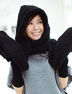 Kadın Basit Klasik Sevimli Günlük Klasik & Zamansız Şapkalar Sporlar Kuzu Kürkü Kıvırılan Şapka Püsküllü Bere,Kış Tüm Mevsimler Tek Renk