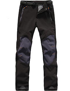 cheap Hiking Trousers & Shorts-Men's Hiking Pants Outdoor Waterproof, Thermal / Warm, Windproof Fall / Winter 100% Polyester, Softshell Bottoms Hunting / Fishing /