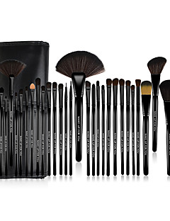 cheap Makeup Brush Sets-MAKE-UP FOR YOU® 32pcs Professional Cosmetic Black Rod Makeup Brushes Set Kit with Black Bag