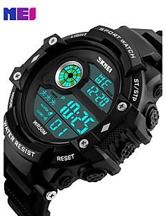 billige Læder-Herre Quartz Digital Digital Watch Armbåndsur Smartur Militærur Sportsur Kinesisk Kalender Kronograf LED Stor urskive Ægte læder Bånd