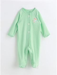 お買い得  赤ちゃんウェア-赤ちゃん 女の子 プリント コットン ワンピース 春/秋 長袖 ライトグリーン