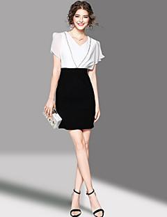 hesapli OYCP-Kadın's Kılıf Elbise - Kırk Yama V Yaka