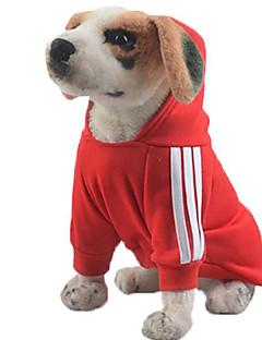 Cachorro Moletom Camisola com Capuz Roupas para Cães Casual Sólido Cinzento Amarelo Vermelho Azul Rosa claro