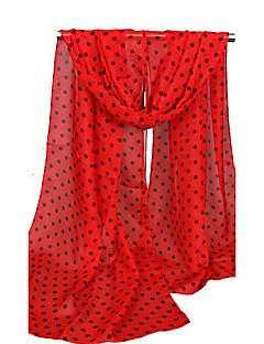 Women's Chiffon Fashion Cute Dots Print Spring Summer Fall Winter All Seasons Scarf