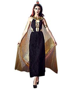 billige Voksenkostymer-Egyptiske Kostymer Queen Gudinne Cleopatra Cosplay Kostumer Party-kostyme Dame Halloween Karneval Festival / høytid Halloween-kostymer