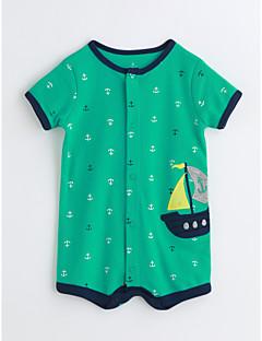 赤ちゃん プリント コットン ワンピース 夏 半袖