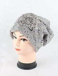Χαμηλού Κόστους Fashionably Warm-Γυναικεία Ζακάρ Καπέλο / Καλύμματα Κεφαλής / Κομψό & Μοντέρνο Βαμβάκι / Δαντέλα Δαντέλα / Πούλιες / Λουλουδάτο - Με ραφές / Ριχτό / Καπελίνα / Χαριτωμένο / Άνοιξη / Φθινόπωρο
