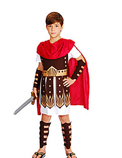 billige Halloweenkostymer-Romerske Kostymer Egyptiske Kostymer Farao Cosplay Cosplay Kostumer Maskerade Party-kostyme Barne Gutt Halloween Karneval Barnas Dag