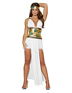 billige Voksenkostymer-Egyptiske Kostymer Queen Gudinne Cleopatra Cosplay Cosplay Kostumer Party-kostyme Dame Halloween Karneval Festival / høytid