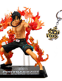 Anime Action Figurer Inspirert av One Piece Ace PVC CM Modell Leker Dukke