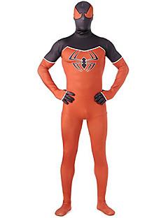 billige Zentai-Zentai Drakter Morphsuit Superhelter Edderkopper Zentai Cosplay-kostymer Trykt mønster Lapper Trikot/Heldraktskostymer Zentai Elastan
