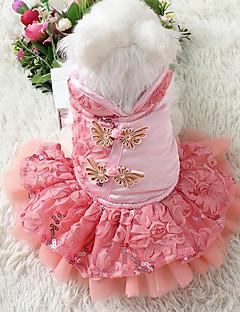 犬 ドレス タキシード 犬用ウェア カジュアル/普段着 新年 刺繍 パープル レッド ブルー ピンク コスチューム ペット用
