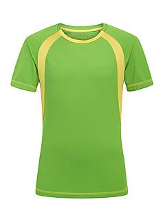 tanie Odzież turystyczna-Męskie Tričko na turistiku Na wolnym powietrzu Quick Dry Zdatny do noszenia Filtr przeciwsłoneczny T-shirt Topy Camping & Turystyka