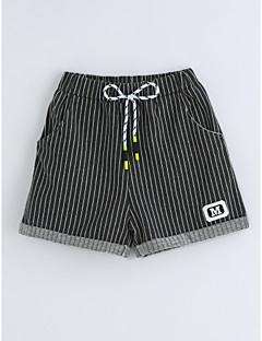 Para Meninos Shorts Riscas Verão Algodão