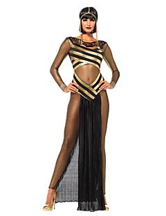 Kuningatar Jumalatar Egyptian Costumes cleopatra Cosplay-Asut Juhla-asu Naiset Halloween Karnevaali Festivaali/loma Halloween-asut Musta