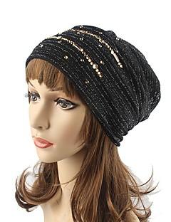 Damen Kopfbedeckung Niedlich Freizeit Schick & Modern Lässig/Alltäglich Strickware Herbst Winter Baumwolle Polyester Beanie Schlapphut,