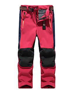 billige Drengebukser-Drenge Bukser Ensfarvet, Polyester Vinter Efterår Blå Grøn Rød Rosa Marineblå