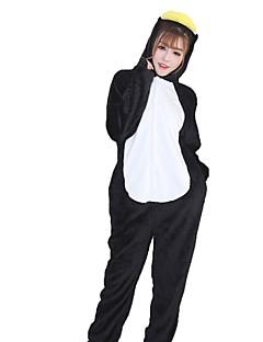 billige Kigurumi-Kigurumi-pysjamas Pingvin Onesie-pysjamas Kostume Flannelstoff Oransje Cosplay Til Pysjamas med dyremotiv Tegnefilm Halloween Festival /