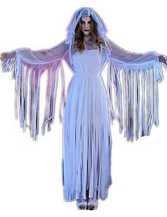 Aave Cosplay Yksiosainen/Mekot Cosplay-Asut Halloween Props Naiset Festivaali/loma Halloween-asut Valkoinen Halloween Karnevaali Vintage