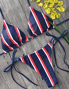 Dame Bikini Fargeblokk stuper halsen Grime Stripet