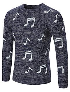 tanie Męskie swetry i swetry rozpinane-Męskie Okrągły dekolt Pulower Geometryczny