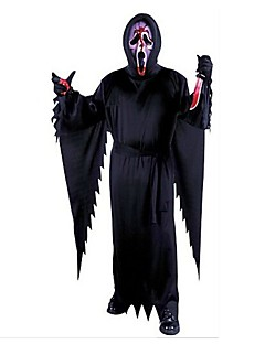 Skjelett / Kranium Zombie Cosplay Cosplay Kostumer Mann Unisex Halloween Karneval De dødes dag Festival / høytid Halloween-kostymer Svart