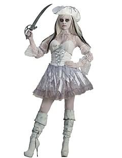 baratos Trajes da Noite das Bruxas-Mago/Bruxa Vampiros Pirata Fantasias Fantasias de Cosplay Baile de Máscara Feminino Adulto Dia Das Bruxas Carnaval Festival/Celebração