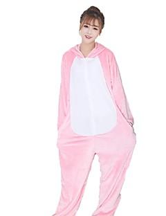 Kigurumi Pyjamas Grisunge/gris Kostume Rosa Svart hvit Flannelstoff Hansker Kigurumi Trikot / Heldraktskostymer Cosplay Festival / høytid