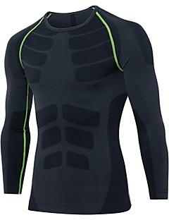 billige Løbetøj-Herre Grundlag Sport T-Shirt / Sweatshirt / Kompressionstøj - Langærmet Træning & Fitness, Fritidssport, Basketbold Letvægt, Åndbarhed,