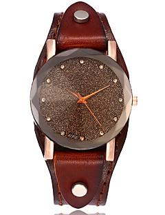 billige Armbåndsure-Dame Quartz Armbåndsur Kinesisk Afslappet Ur Læder Bånd Vintage Afslappet Simuleret Diamond Watch Unikke kreative ur Elegant Mode Sort