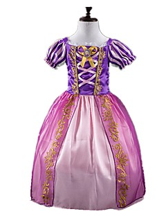 cheap Kids Halloween Costumes-Princess Fairytale Cosplay Dress Children's Girls' Halloween Carnival Festival / Holiday Halloween Costumes Purple Vintage