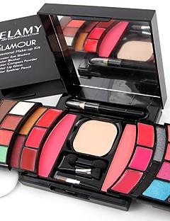 2 Rouge Presset pudder+Øjenskygger Eyeliners Øjenbryn+Lipglosses+Spejl Pulver Puff/Skønhedsblender Makeup Vatpind Makeupbørster Glans