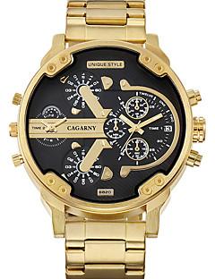 billige Høj kvalitet-WEIDE Herre Armbåndsur Japansk Quartz 30 m / Rustfrit stål Bånd Analog Afslappet Guld - Hvid Sort