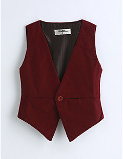 Boys' Solid Vest,Cotton Spring Fall Sleeveless Red