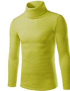 tanie Męskie swetry i swetry rozpinane-Męskie Weekend Moda miejska Golf Szczupła Pulower Jendolity kolor Długi rękaw