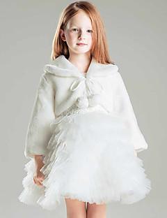 cheap Wedding Wraps-Faux Fur Polyester Wedding Party / Evening Kids' Wraps Shrugs